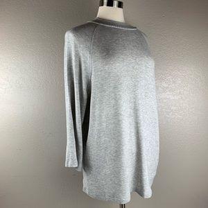 Philosophy Light Gray Long Sleeve Luxe Sweater